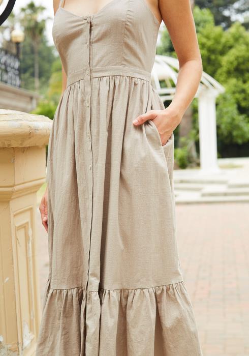 Tansy Ruffle Hem Cami Midi Dress