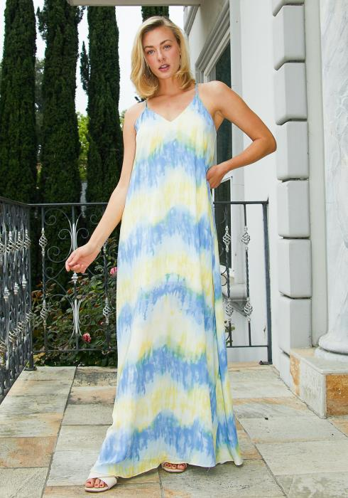 Tansy Tie Dye Maxi Cami Dress