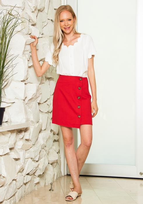 Tansy Button Up Mini Skirt