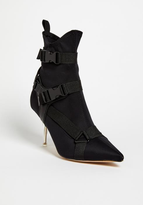 Kikko Buckled Ankle Boots