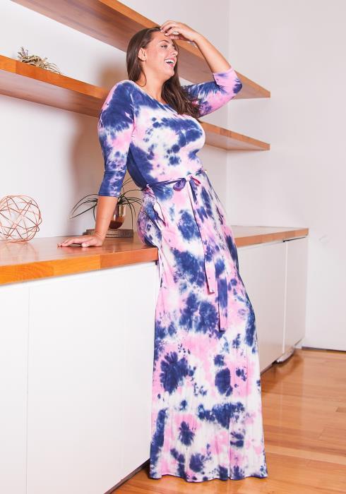 Asoph Plus Size Love or Dye Womens Maxi Dress