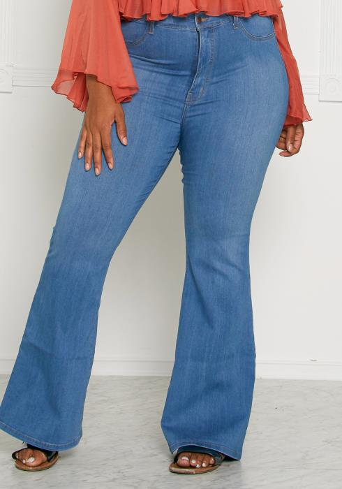 Asoph Plus Size Lets Get Groovy Baby Jeans