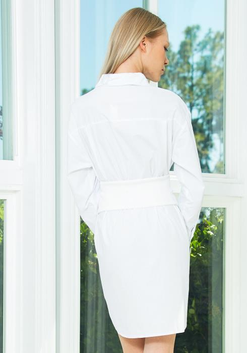 Tansy White Shirt Dress