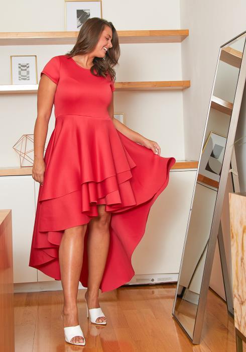 Asoph Plus Size Ruffle Gathered Dress