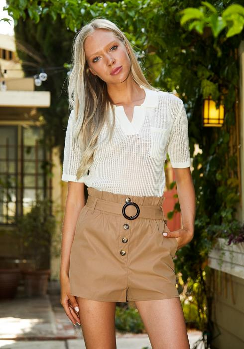 Tansy High Waisted Ring Belt Short