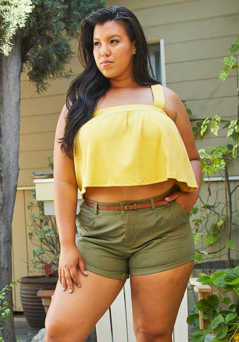 Asoph Plus Size Casual Shorts