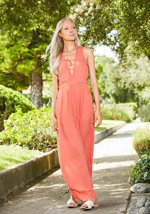 Tansy Slit From Head To Toe Jumpsuit