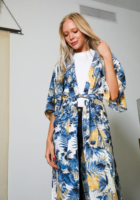 Tansy Floral Long Kimono Cardigan