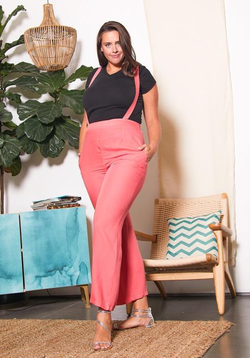 Asoph Plus Size Womens Pretty Suspender Pants