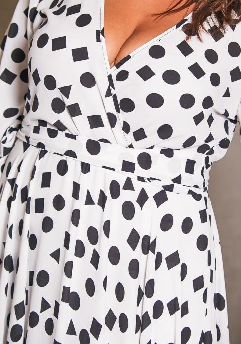 Asoph Plus Size Raining Dots Maxi Dress