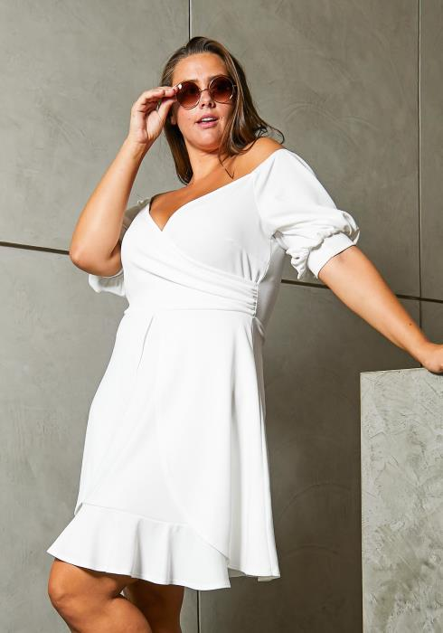 Asoph Plus Size Mini Flared Cocktail Dress