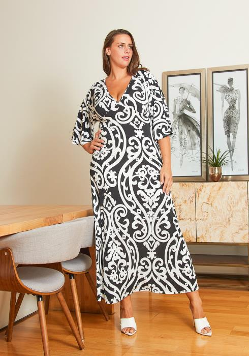 Asoph Plus Size Maxi Wrap Dress