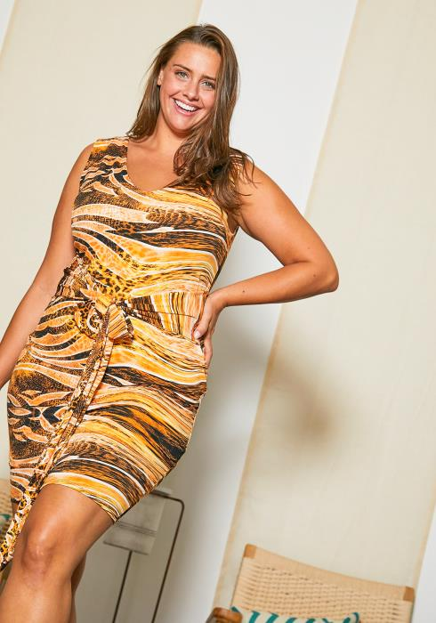 Asoph Plus Size Animal Print Dress