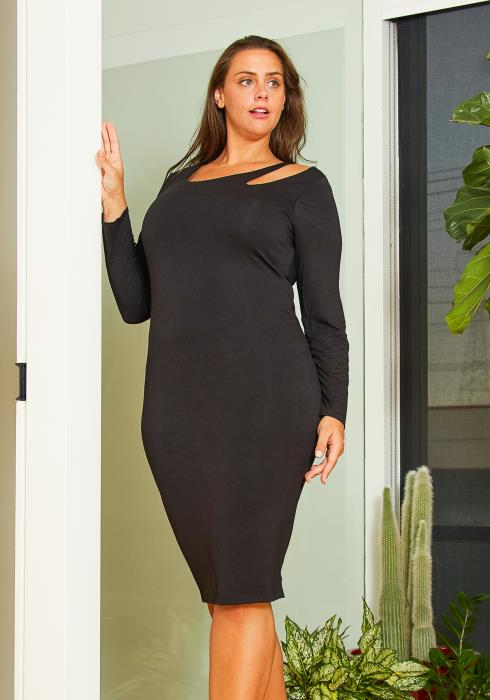Asoph Plus Size Cutout Bodycon Dress