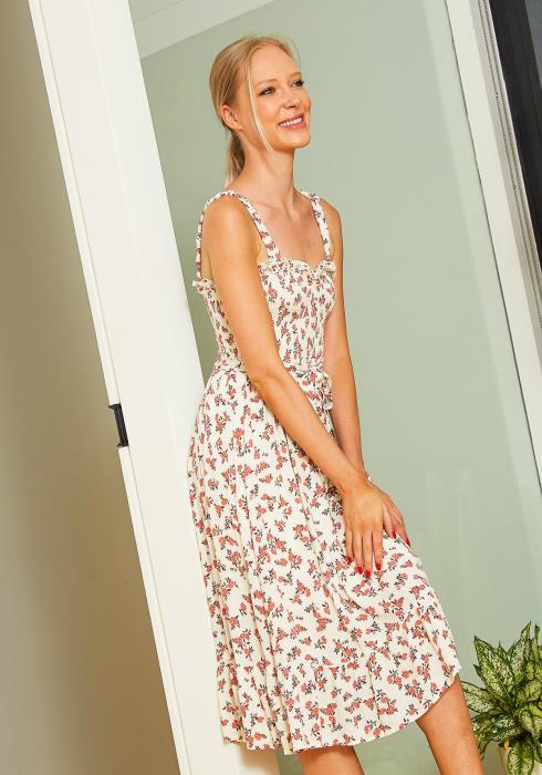 Tansy Floral Smocked Midi Sundress