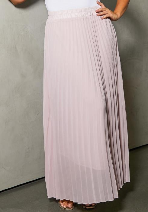 Asoph Plus Size Pleated Maxi Skirt