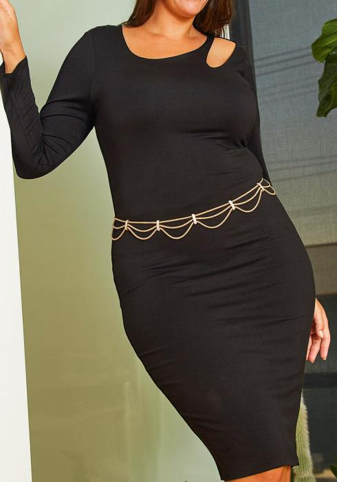 Customized Plus Size Ripple Chain Belt