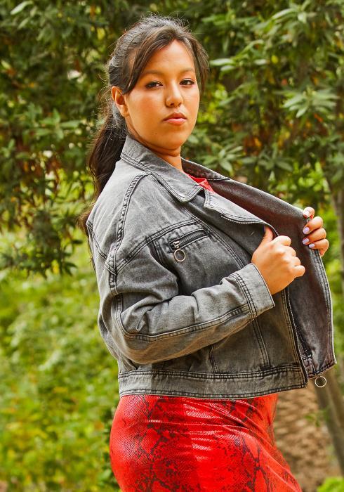Asoph Plus Size Chic Denim Moto Jacket