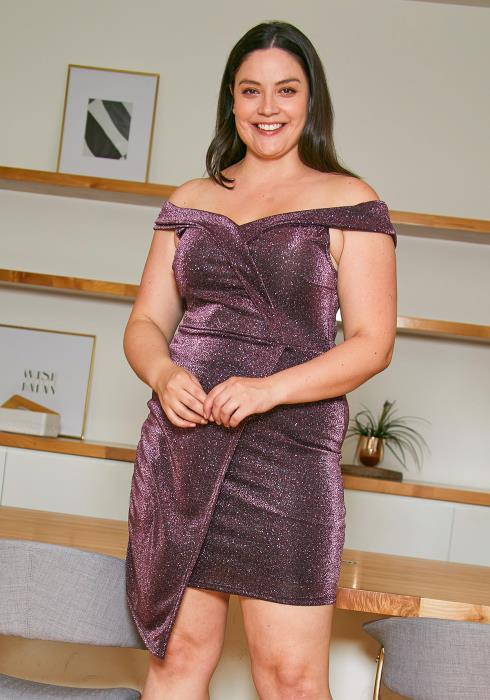 Asoph Plus Size Dazzling Night Party Dress
