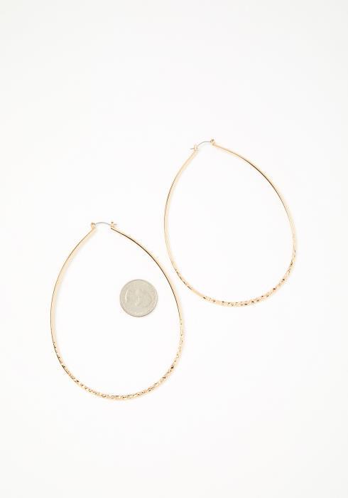 Taylor Falls Gold Oval Hoop Earrings