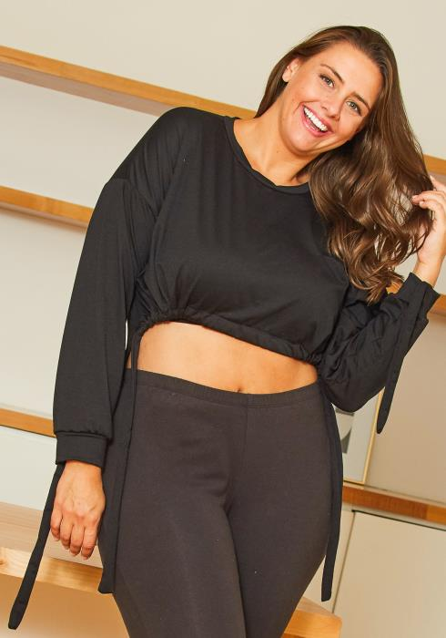 Asoph Plus Size Cropped Sweatshirt