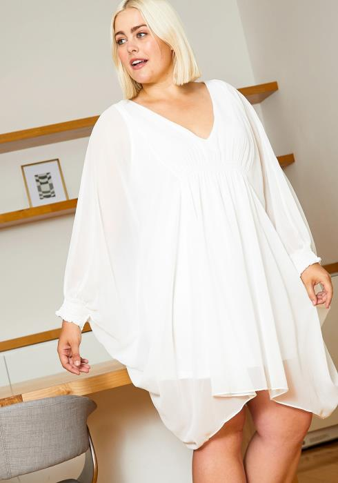 Asoph Plus Size Angel Sleeve Womens Dress