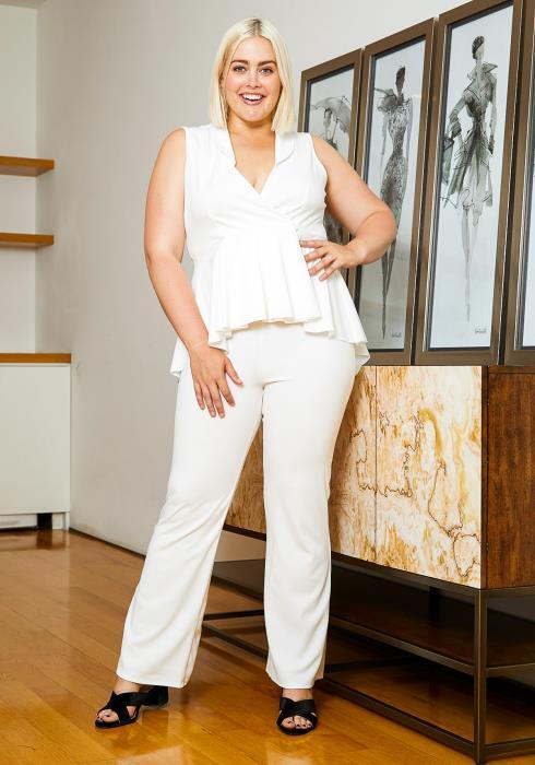 Asoph Plus Size Dressing Women Blouse and Pants Set