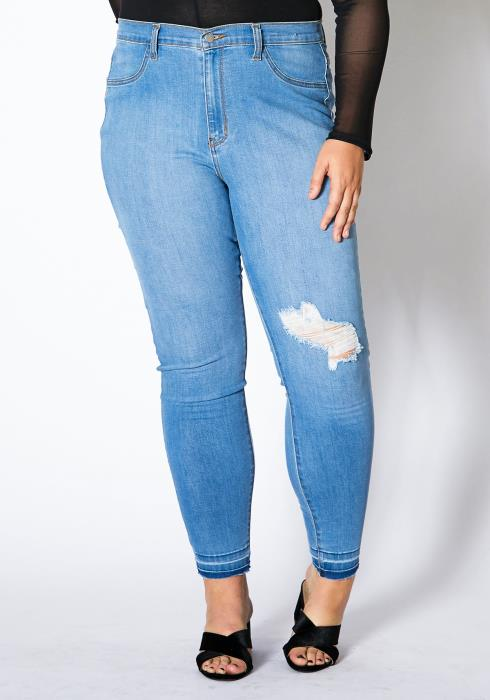 Asoph Plus Size Light Wash Women Denim Jeans