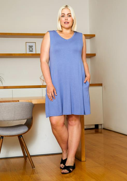 Asoph Plus Size Fit and Flare Tank Dress