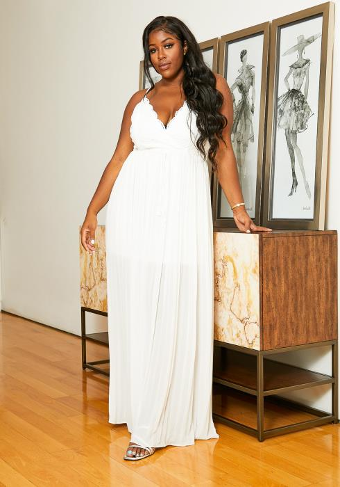 Asoph Plus Size Womens Laced Cami Maxi Dress