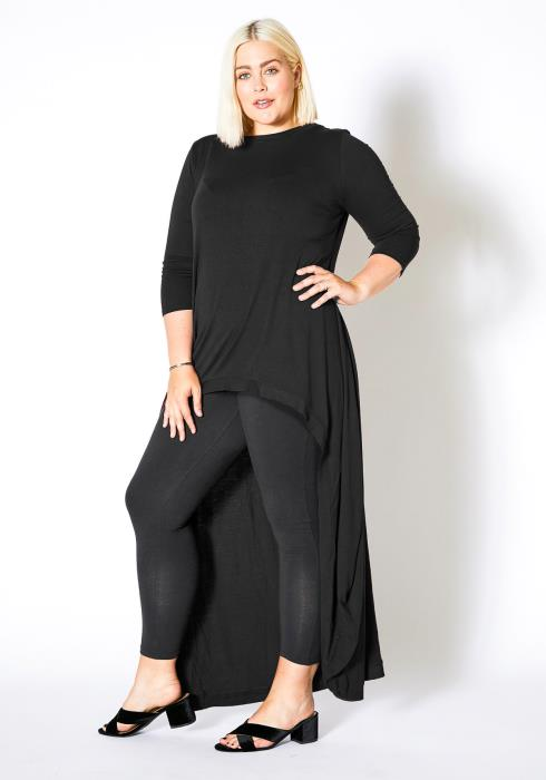 Asoph Plus Size High to Low Casual Womens Blouse