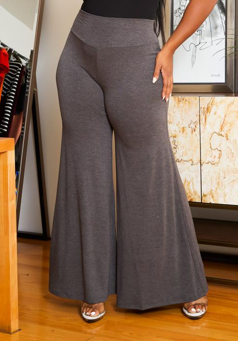 Asoph Plus Size High Waisted Flare Pants