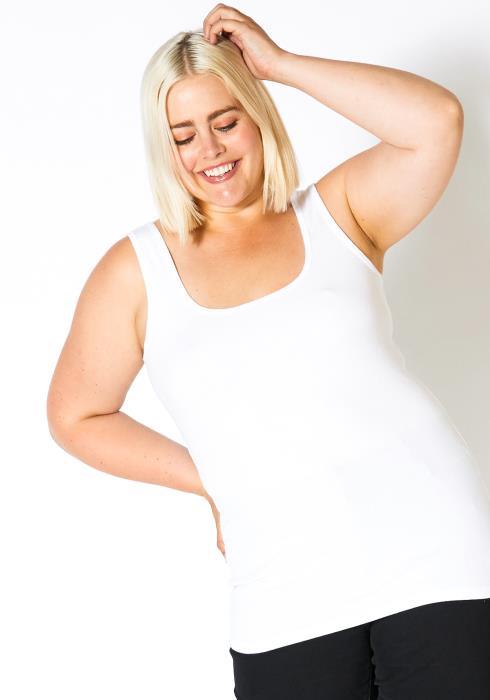 Asoph Plus Size Womens Basic Ribbed Tank Top