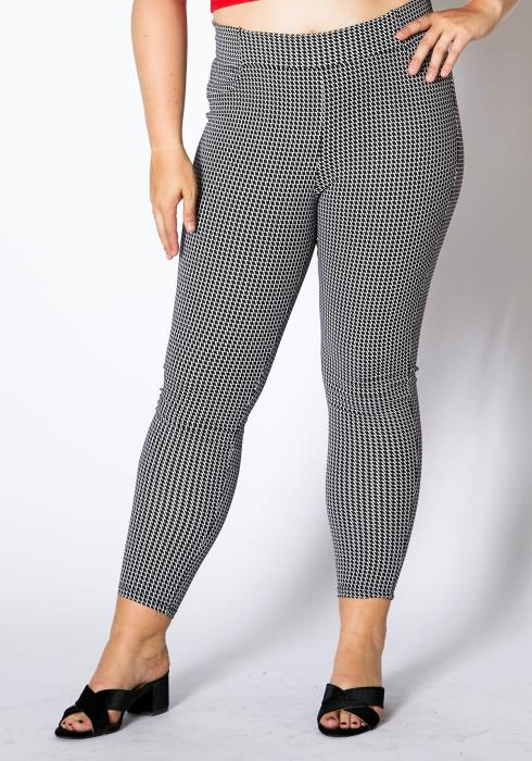 Asoph Plus Size Contemporary Patterned Women Pant Leggings