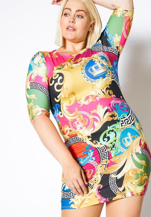 Asoph Plus Size Royal Dreams Bodycon Women Dress