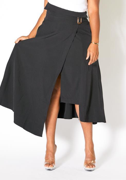 Asoph Curvy Womens High Waist Vintage Midi Skirt