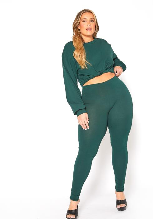 Asoph Plus Size Comfort Zone Long Sleeve and Legging Set