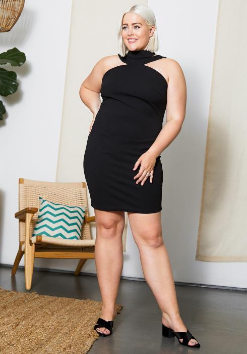 Asoph Plus Size Halter Neck Womens Party Dress