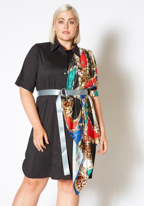 Asoph Plus Size Fantasy Fashion Collared Mini Dress