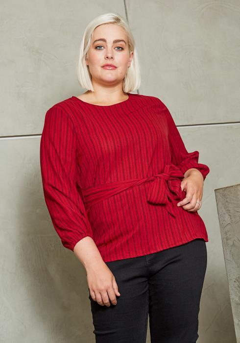 Asoph Plus Size Make it Unforgettable Womens Striped Blouse