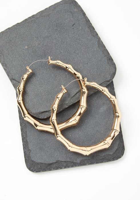 Vintage Bamboo Hoop Earrings