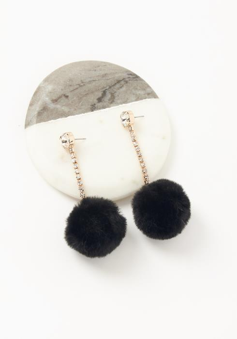Asoph Cubic Pom Pom Diamond Drop Earrings