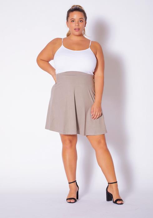 Asoph Plus Size Womens Circle Flare Mini Skirt