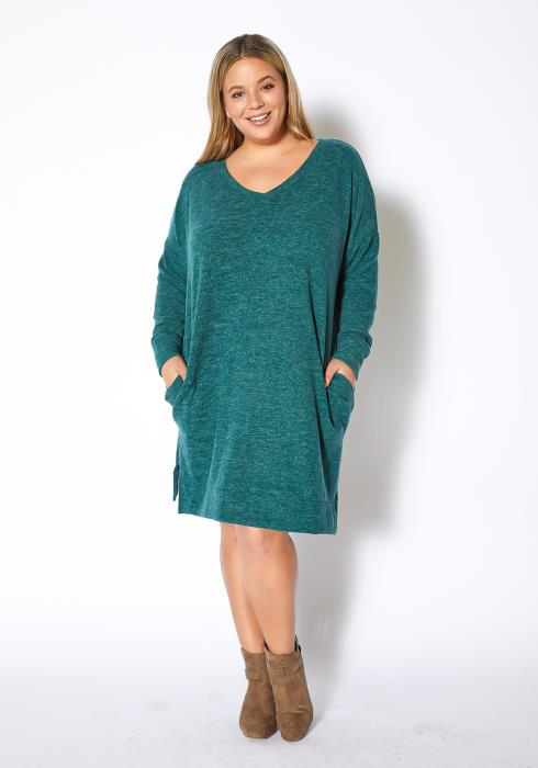 Asoph Plus Size Timeless Warmth Womens Knit Sweater