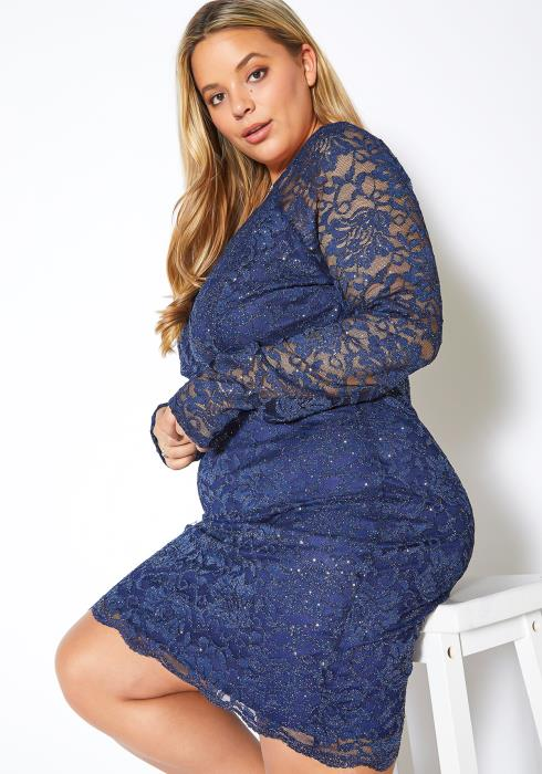 Asoph Plus Size Galaxy Laced Party Dress