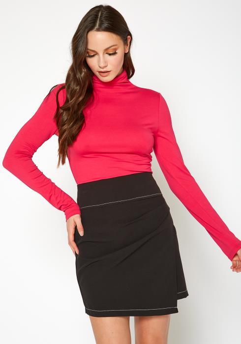 Bellatrix Half Sleeve Turtle Neck Fitted Top