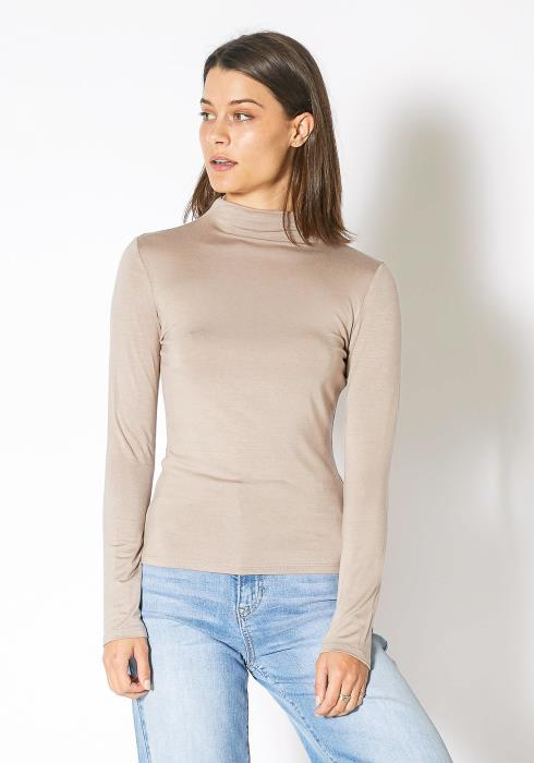 Bellatrix Long Sleeve Turtle Neck Fitted Top