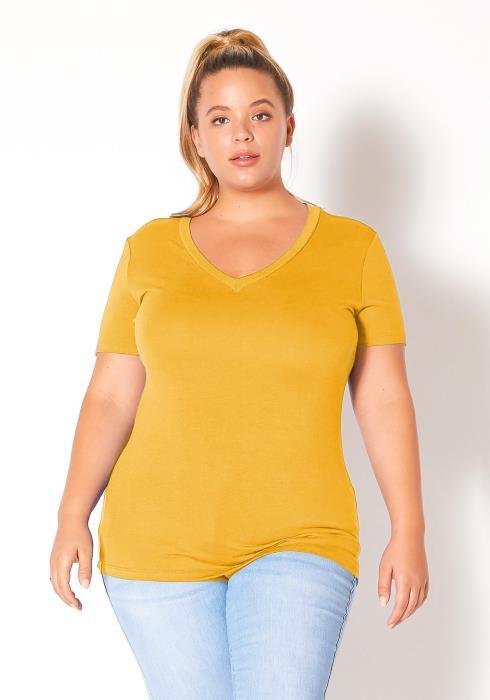 Bellatrix Plus Size Womens Basic V-Neck Top