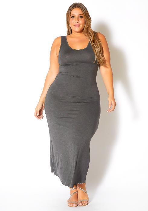 Bellatrix Plus Size Sleeveless Scoop Neck Maxi Dress