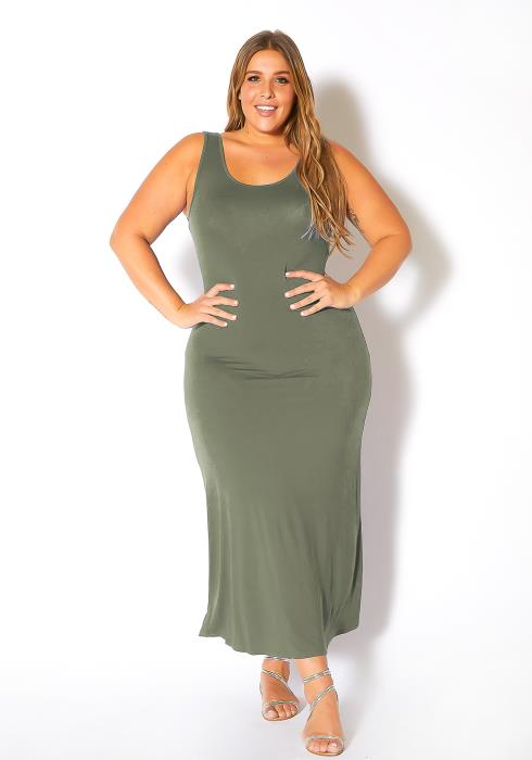Bellatrix Plus Size Sleeveless Scoop Neck Maxi Dress